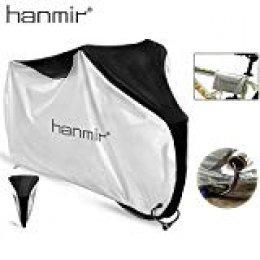 Hanmir Funda Bicicleta, Funda de Protección Bicicleta portátil 190T Impermeable,Anti Polvo y UV para Montaña Carretera - 200 x 110 x 70 cm