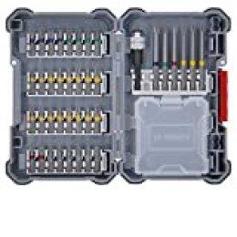Bosch Professional 40 unidades para atornillar (Pick and Click, puntas muy resistentes para atornillar, con portapuntas universal)