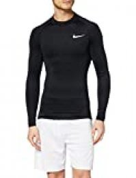 NIKE M NP Top LS Tight Mock Camiseta de Manga Larga, Hombre, Black/White, XL