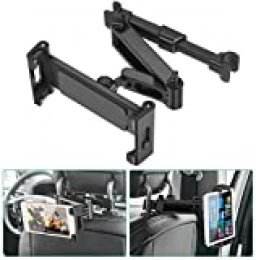 "SAWAKE Soporte Tablet Coche,Soporte Tableta Reposacabezas de 5,5"" a 12,90"", Soporte Asiento Universal Ajustable 360°,Car Tablet Holder para iPad Pro, iPad Mini, Tabletas, Kindle, E-Redear"