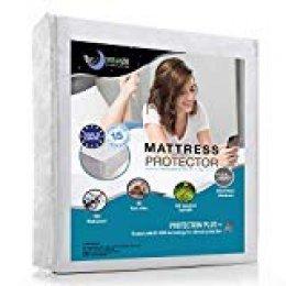 Dreamzie Protector de Colchón Impermeable (120 x 200 cm) - Cubre Colchón Transpirable, Anti-Ácaros