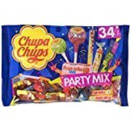 Chupa Chups Party Mix, Golosinas y Caramelos de Sabores Variados, Bolsa de 34 unidades (Total 400 gr.)