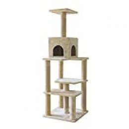 Umi. by Amazon - Mueble para gatos, árbol con cueva, centro de actividades de lujo, XL (beige)