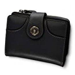 Cartera Mujer Cuero Auténtico Bloqueo RFID Billetera Mujer Monedero Piel con Bolsillo Cremallera de Actualización con Caja de Regalo (100% Cuero auténtico - Negro)