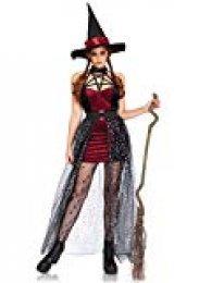 Leg Avenue- Mujer, Color Negro Burdeos, XL (EUR 44-46) (86706 14104-141-XL)