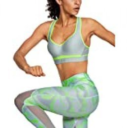 Under Armour Warp Knit High Impact Sujetador Deportivo, Mujer, Verde, 32A