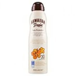 Hawaiian Tropic Satin Protection Continous Spray SPF 30 - Bruma Solar Protectora de Absorción Rápida, Protección Solar No Grasa, 220 ml