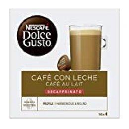 NESCAFÉ Dolce Gusto Café con Leche Descafeinado | 16 cápsulas de café