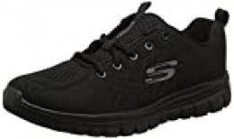 Skechers Women 12615 Low-Top Trainers, Black (Black Mesh/Trim Bbk), 4 UK (37 EU)