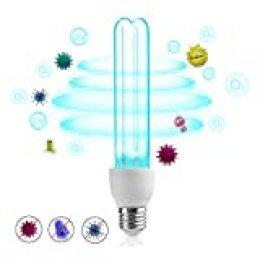 Bonlux 25W E27 UVC Bombilla Germicida con Ozono para Lugares menos de 40㎡, LED Profesional Esterilización Ultravioleta Desinfección Germicida Doméstica, Lámpara de Ozonizador Doméstico