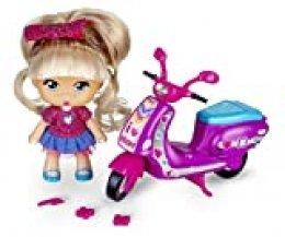 los Barriguitas - Scootie de Purpurina, Moto con 1 fmuñeca, para niños y niñas de 4 a 8 años (Famosa 700014934)