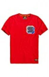 Superdry Podium Embroidered tee Camiseta de Tirantes para Hombre