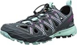 Merrell Choprock Shandal, Zapatillas Impermeables para Mujer, Gris (Blue Smoke), 40 EU