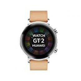 """Huawei Watch GT 2 Classic - Smartwatch con Caja de 42 mm (Hasta 2 Semanas de Batería, Pantalla Táctil AMOLED de 1.39"""", GPS, 15 Modos Deportivos, Llamadas Bluetooth), marrón"""