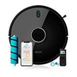 Cecotec Robot Aspirador Conga Serie 4090. 2700 Pa, Gestión y Edición de Habitaciones, App con hasta 5 Mapas, Aspira, Barre, Friega y Pasa la Mopa, Alexa y Google Home, apto para Wi-Fi 5GHz