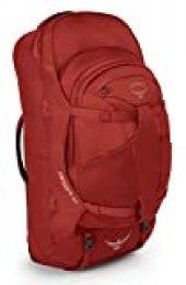 Osprey Farpoint 55 Mochila de Viaje, Hombre, Rojo (Jasper Red), S/M