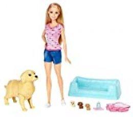 Barbie y sus perritos sorpresa, muñeca con accesorios, regalo para niñas y niños 3-9 años (Mattel FDD43) , color/modelo surtido