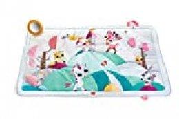 Tiny Love Super Mat Alfombra bebé alcochada, Gimnasio Manta de juegos gigante 100 x 150 cm, Alfombra gateo bebé con 8 actividades para el desarrollo, Rosa, Tiny Princess Tales