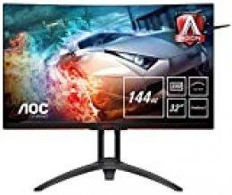 "AOC Agon AG322QC4 - Monitor 32"" Curvo QHD 2K (resolución 2560 x 1440 Pixeles, Contraste 2500:1, 4 ms, FreeSync 2, Flickerfree, LowBlue, Altavoces; VESA, HDMI, Displayport)"