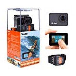 Rollei Actioncam 550Touch-WiFi Action CAM con Pantalla Táctil y Vídeo 4K Resolución hasta 40m, Impermeable, Incluye Unterwasserschutzgehäuse y Mando a Distancia