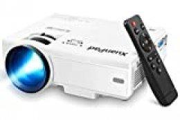 XuanPad Proyector, 2020 Mini Proyector Multimedia Vídeo Proyector LCD, 55000 Horas Proyector de Cine en casa, Compatible con Full HD 1080P HDMI, VGA, USB
