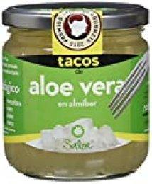 Saloe Tacos de Aloe Vera En Almíbar Ecológico - 3 Paquetes de 320 gr - Total: 960 gr