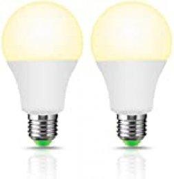 LOHAS - Bombilla LED inteligente LED E27 A60 (8W), blanco cálido 2700K, bombilla WIFI de repuesto 50W, 700LM, compatible con Amazon Alexa, Google Home, paquete de 2