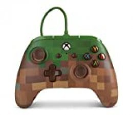 Mando inalámbrico para Xbox One de PowerA: Minecraft Grass Block