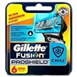 Gillette Fusion ProShield Chill Recambios - 6 Unidades