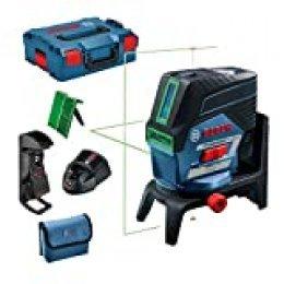 Bosch Professional GCL 2-50 CG - Nivel láser (1 batería x 2.0 Ah, 12V, alcance 20 / 50 m, láser verde, en L-BOXX)