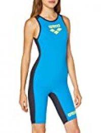 ARENA Powerskin Carbon Speedsuit - Mono con Cremallera en la Espalda para Mujer, otoño/Invierno, Mujer, Color Fast Blue-Grey, tamaño XS