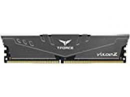 TeamGroup T-Force Vulcan Z - Memoria RAM de 16 GB (DDR4-3200, PC4-25600U, DIMM, 288 Pines, CL16-18-18), Color Gris