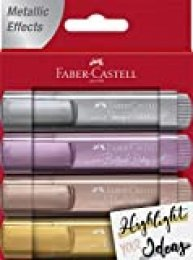 Faber Castell 154640 Rotulador Fluorescente, Color Metallic + Pastel, 1,6 x 11,8 x 15,2 cm (FC154640)