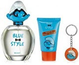First American Brands Bluestyle Brainy 3D - La ducha 75ml regalo llavero gel Pitufos Brainy 100ml Eau de Toilette para niños, 1er Pack (1 x 100 ml)