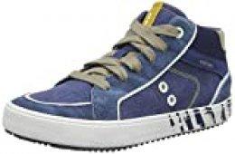 Geox J Alonisso Boy D, Zapatillas Altas para Niños, Azul (Avio/Beige C4289), 35 EU