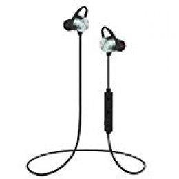 Auriculares Bluetooth, KOOHO E2 Bluetooth 4.1 Magnéticos In-ear Cascos Deportivos Inalámbricos con Mic, Resistente al Agua IPX6, Reducción de Ruido CVC6.0, Para iOS Android Móviles Smartphones(Gris)