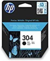 HP N9K06AE 304 Cartucho de Tinta Original, 1 unidad, negro