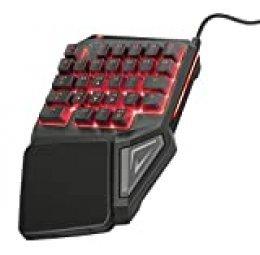 Trust GXT 888 Assa Teclado Gaming de una Mano Personalizable con Memoria integrada, Teclas y macros programables