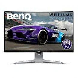 "BenQ EX3203R - Monitor Curvo Gaming de 31.5"" (QHD 2K, 144 Hz, HDR, FreeSync 2, Sensor B.I, HDMI, Display Port, USB-C) Color Negro y Gris"