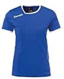 Kempa Curve MC Camiseta de Juego, Mujer, Azul Royal/Blanco, XL
