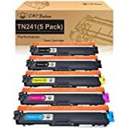 CMYBabee Cartucho de Tóner Compatible Repuesto para Brother TN241 TN245 para DCP-9020CDW DCP-9015CDW HL-3140CW HL-3150CDW HL-3170CDW MFC-9130CW MFC-9140CDN MFC-9330CDW MFC-9340CDW (5 Paquete)
