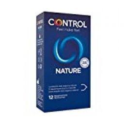 Preservativos Control Nature - Caja de condones, gama placer natural, lubricados, perfecta adaptabilidad, sexo seguro, 6 unidades