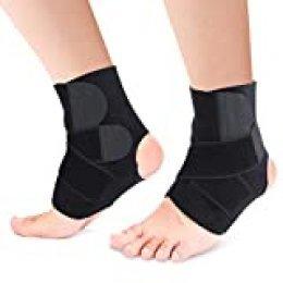 Tobillera de compresión con almohadilla, soporte de arco para pies planos, fascitis plantar, arcos caídos, espolones de talón, ayuda al alivio del dolor de pies
