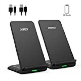 CHOETECH Cargador Inalámbrico, Wireless Charger[2 Pack], Carga Rápida 7.5/10W para iPhone 11Pro/11Pro Max/SE 2020/Xs/Xs Max/XR/X/8 Plus, Samsung Galaxy S20/Note 10/S10/S9/S9+/S8, Huawei Mate 30Pro etc