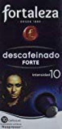 Café FORTALEZA - Cápsulas de Café Descafeinado Forte Compatibles con Nespresso - Pack 12 x 10 - Total 120 cápsulas