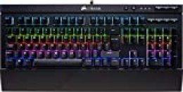 Corsair K68 RGB Teclado mecánico Gaming retroiluminación multicolor RGB, resistente al polvo y a las salpicaduras, QWERTY Español,Cherry MX Red (Suave y rápido)
