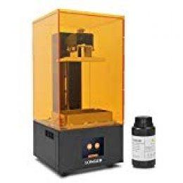 LONGER Orange 10 Impresora 3d,Impresora 3D de Resina SLA con Pantalla Táctil a Color, Iluminación LED Paralela, Impresión Fuera de Línea, Advertencia de Temperatura, 3.86 x 2.17 x 5.5 pulgadas
