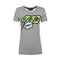 Valentino Rossi Pop Art, Jersey Mujer, Gris   Claro, M