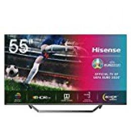 "Hisense ULED 2020 55U7QF - Smart TV 65"" Resolución 4K, Quantum Dot, FALD, Dolby Vision, Dolby Atmos, Vidaa U 4.0 con IA, Alexa Built-in"