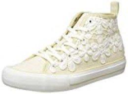 Desigual Shoes Beta Crochet, Zapatillas Altas para Mujer, Beige Crudo 9020, 39 EU